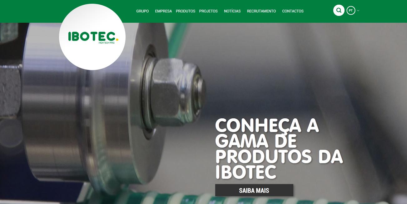 Novo site Ibotec Grupo Fersil
