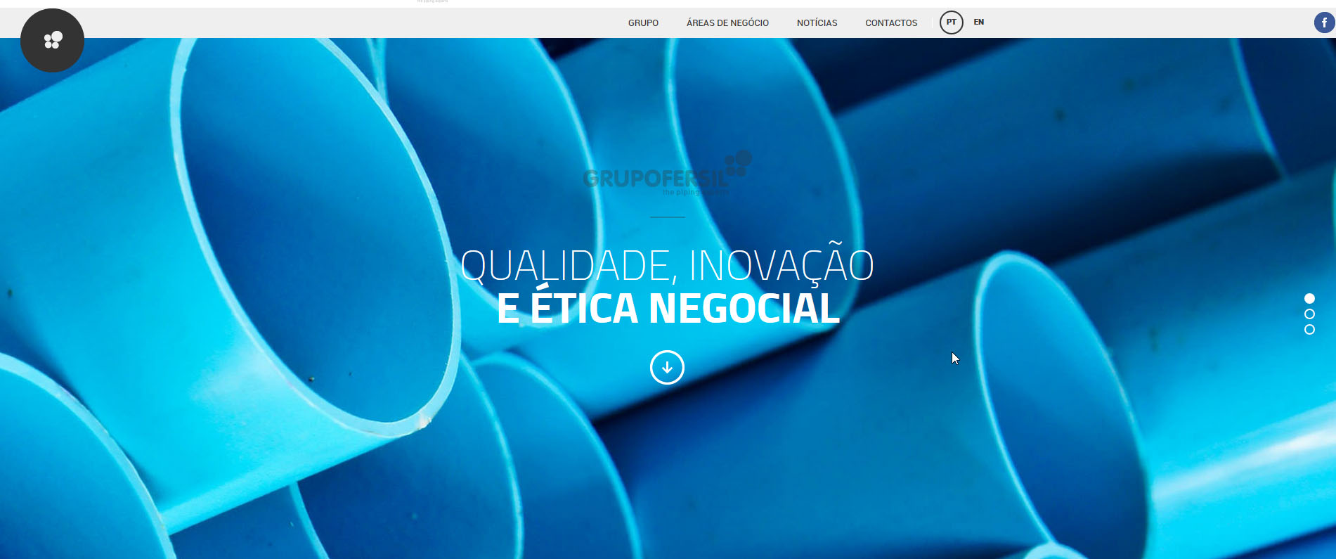 Site novo do Grupo Fersil Grupo Fersil