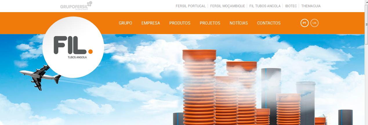 FIL Tubos de Angola lança novo site Grupo Fersil