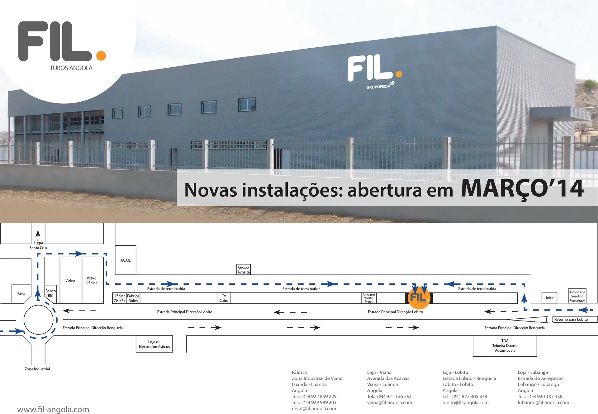 Novas instalações da FIL Angola no Lobito Grupo Fersil